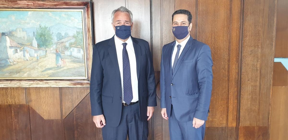 Συνάντηση Δημάρχου Αγρινίου με τον Υπουργό Εσωτερικών Μάκη Βορίδη
